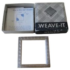 Vintage Weave It Wooden Weaving Hand Loom In Box