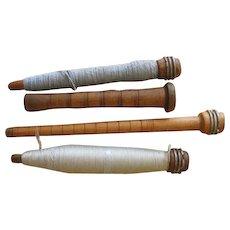 Vintage Wooden Quill Bobbins