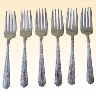 Aladdin Pure Silverplate 1926 Salad Forks