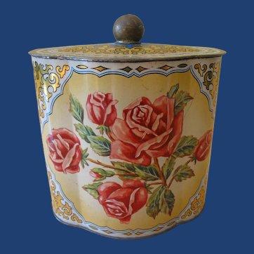 Vintage West German Tin Tea or Biscuit Box
