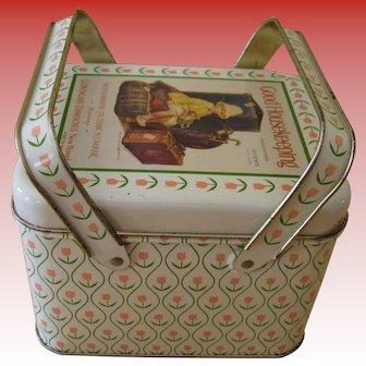 Vintage Good Housekeeping Tin with Basket Type Handles