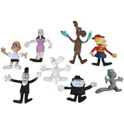 1972 Wham-O Rocky and Bullwinkle Show Flex and Bend Figures