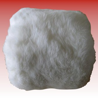 Vintage White Fur Muff/Hand Warmers