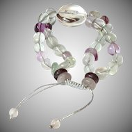 Fluorite and Clear Quartz Bracelet