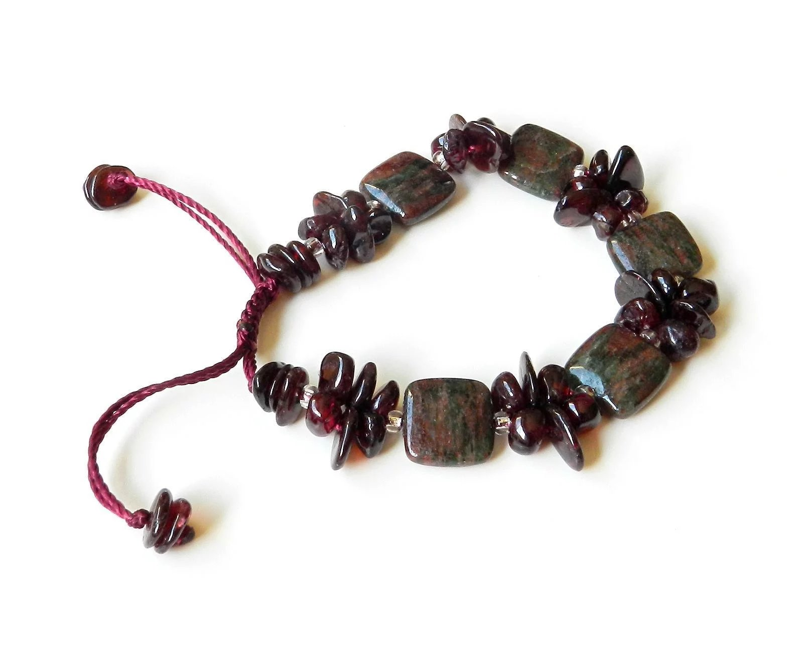 xpress flat bead collection annie products collections gemstones dark gemstone stone bracelet zodiac jasper red garnet