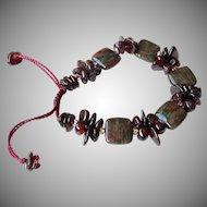 Green & Red Garnet Bracelet