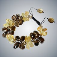Smoky and Rutilated Quartz Bracelet