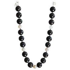"""Mahogany Obsidian and Botswana Agate Necklace 18"""""""