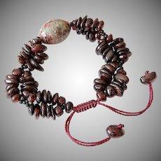 Red & Green Garnet Bracelet