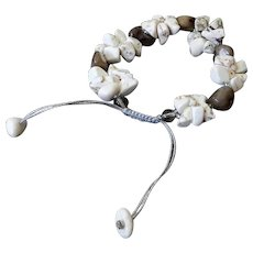 Mother of Pearl and Howlite Bracelet