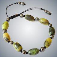 Chinese Chrysoprase Bracelet with Hematite