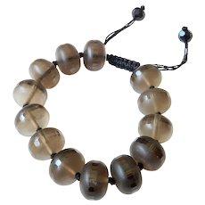 Smoky Quartz Translucent Opaque Brownish Gray Bracelet