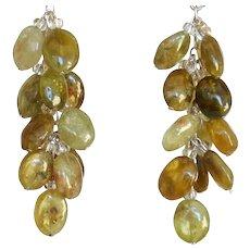 """Green Garnet Earrings 2"""""""