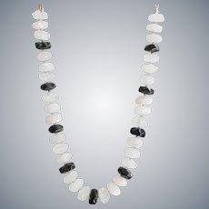 Rose Quartz Necklace with Black Obsidian