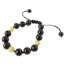 Black Onyx Bracelet with Olivine