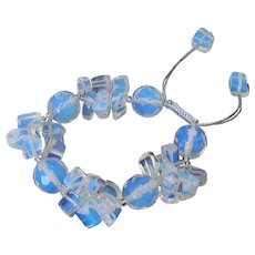 Opalite Bracelet, Round and Clusters