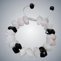 Golden Obsidian with Rose Quartz Gemstone Bracelet