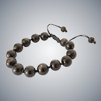 Hypersthene Bracelet, with Greyish Sheen