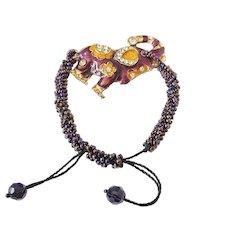 Elephant Lucky Charm Bracelet Amulet, Traditional Indian Buddhism Jewelry, Talisman