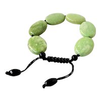 Serpentine Bracelet, adjustable, macrame closure