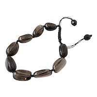 Smoky Quartz Gemstone Bracelet, adjustable, stylish and elegant