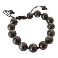 Hypersthene Bracelet, with Greyish Sheen, adjustable