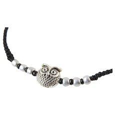 Owl Bracelet, macrame adjustable
