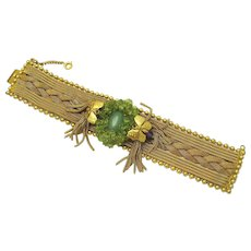 Vintage Pierre Lorion Sylvia Karels Paris Peridot Butterfly Bracelet RARE