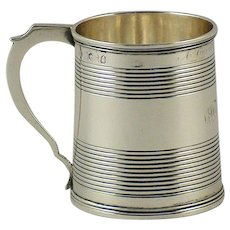 A William IV sterling silver quarter pint mug, William Knight, London, 1830