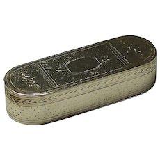 A George III sterling silver snuffbox by Thomas Willmore, Birmingham, 1796