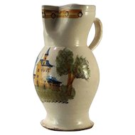 A large early 19th century Spanish majolica pitcher, Talavera or Puente del Arzobispo, Toledo, circa 1810.