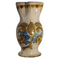 A large early 19th century Spanish majolica pitcher, Talavera or Puente del Arzobispo, Toledo, circa 1800.