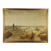An 1853 Crimean War battlefield watercolor by Friedrich (Fritz) Wilhelm L'Allemand (1812-1866), signed and dated September, 1853