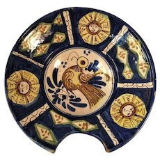 A 19th century Talavera majolica barber's basin, probably Puebla, Mexico circa 1860