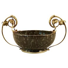 A Russian Imperial hard stone bowl with silver gilt mounts, Grachev Brothers, Moscow, circa 1910