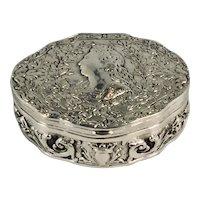 A German late 19th century silver snuff box, Georg Roth, Hanau, Hesse, circa 1900