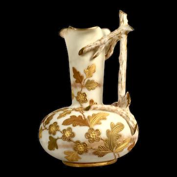 An Ott & Brewer belleek miniature pitcher, Red Crown mark 1a, Trenton, N.J., circa 1885