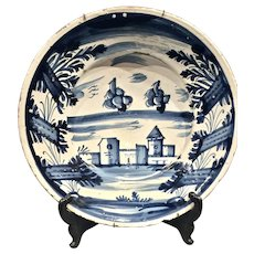 A large late 17th century Spanish majolica charger, Catalonia circa 1680
