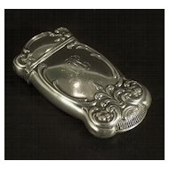 A sterling silver match safe in the early Art Nouveau style, Gorham Manufacturing Company, Providence, Rhode Island, circa 1900