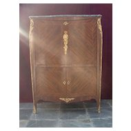 outstanding Lois Xv style gilt bronze mounted inlaid kingwood secretaire a' abattant  t