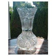 American Brilliant cut glass vase c.1905 ABP