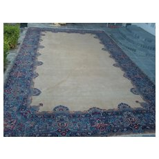Wonderful hand knotted palace size Persian Lavar Kerman area rug no medallion