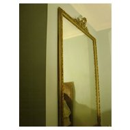 Antique palatial large gilded carved wood wall mirror c.1880
