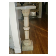Antique French Onyx and bronze mounts pedestal c.1880