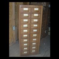 Antique rare turn of the century American oak storage cabinet