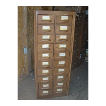 Antique rare turn of the century American oak storage cabinet