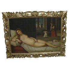 Stunning Antique oil on canvas painting of Venus,  Italian, 19th century , signed
