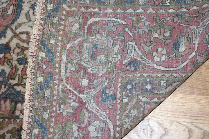 Antique Persian Hand Knotted Wool Rug Carpet Esfahan By Ahmad 7 5