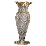 "American Brilliant Cut glass large vase, ""Rockwood Pattern"" by J HOARE, stunning , circa 1905"
