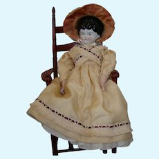 """Antique Low Brow China Head 15"""" Doll"""